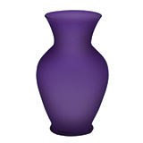 """9 (11"""" ) Purple Matte Bouquet Vases                                                              For Delivery to Kentucky"""