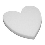 "12 (18"") White STYROFOAM®  Solid Hearts                                                              For Delivery to California"