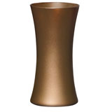 12 Caramel Ice Matte Gathering Vases                                                              For Delivery to Rhode_Island