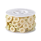 OASIS™ Button Ivory Wires                                                               For Delivery to Goose_Creek, South_Carolina