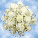 14 Perfect White Roses & Baby's Breath Wedding Centerpieces