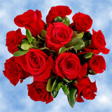 14 Beautiful Red Roses & Greenery Wedding Centerpieces