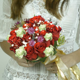 True Love Wedding Combo D.I.Y. Roses - Carnations - Poms - Stocks & Lily Grass                                                              For Delivery to Colorado