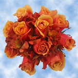 14 Bright Orange Roses & Alstroemerias Wedding Centerpieces                                                              For Delivery to New_Jersey