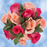 14 Fabulous Pink Roses & Ruscus Wedding Centerpieces