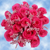 9 Sweet Pink Roses & Limoniums Wedding Centerpieces