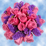 9 Fantastic Purple Roses & Statices Wedding Centerpieces