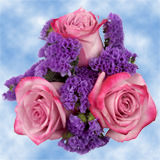 8 Spectacular Purple & Lavender Roses Wedding Centerpices                                                              For Delivery to Indiana