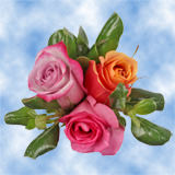 8 Breathtaking Multicolor Roses & Greenery Wedding Centerpieces                                                              For Delivery to Alabama