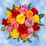 9 Lovely Multicolor Roses & Greenery Wedding Centerpieces