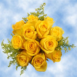 14 Terrific Yellow Roses & Solidagos Wedding Centerpieces