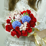 Our Day Wedding Combo D.I.Y. Roses - Hydrangeas - Bells of Ireland & Other Flowers