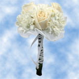 8 Divine White Roses & Mini Carnations Centerpieces                                                              For Delivery to North_Carolina
