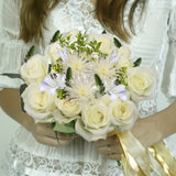 Pure Love Wedding Combo D.I.Y. Roses - Asiatic Lilies - Star of Bethlehem - Poms - Hypericums