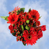 2 for 1 Fall Red Flower Bouquets                                                              For Delivery to Florida