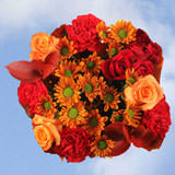 17 Autumn Straw Hat Bouquets