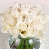 6 Wonderful Wedding Centerpieces with Ivory Roses & Calla Lilies