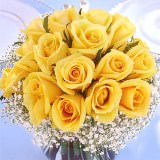 12 Beautiful Wedding Centerpieces with Yellow Roses                                                              For Delivery to Georgia