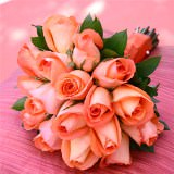 6 Beautiful Orange Royal Bridesmaids Rose Bouquets                                                              For Delivery to Georgia
