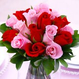 12 Beautiful Wedding Centerpieces with Red & Pink Roses                                                              For Delivery to Indiana