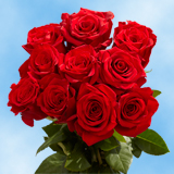 50 Stems of Red Wedding Roses