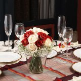 12 Beautiful Terracotta and Ivory Classic Wedding Rose Centerpieces