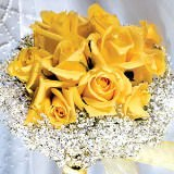 Beautiful Classic Bridal Bouquet with Yellow Roses