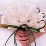 Best Bridal Bouquet with Ivory Roses                                                              For Delivery to Hawaii