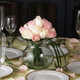 12 Majestic Wedding Centerpieces with Light Pink & Ivory Roses                                                              For Delivery to Delaware
