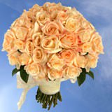 Lovely Your Choice of Colors Bridal Bouquet of Roses