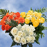 6 Dozen Your Choice Color Roses with Fillers