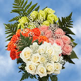 14 Dozen Your Choice of Color Roses & Fillers