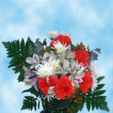 2 Snow Christmas Bouquets