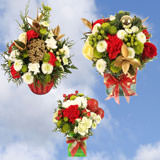 3 Christmas Holiday Combination I Arrangements with Vase