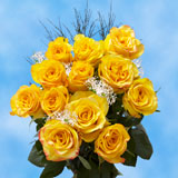 12 Stems of Yellow Roses with Fillers
