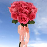 Elegant Bridal Bouquet with Long Roses