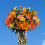 1 Floral Day Arrangement with Vase                                                              For Delivery to New_Hampshire