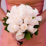 3 Ivory Royal Rose Bridesmaid Bouquets                                                              For Delivery to Massachusetts