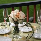 3 Romantic Wedding Centerpieces with Peach & White Roses                                                              For Delivery to Idaho