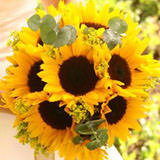 3 Wedding Centerpieces with Sunflowers