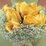 6 Gorgeous Yellow Classic Bridesmaids Rose Bouquets