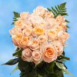 24 Stems of Peach Roses with Fillers                                                              For Delivery to Connecticut