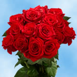 75 Long Stem Assorted Red Roses