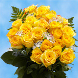 24 Stems of Yellow Roses with Fillers