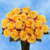 125 Stems of Super Premium Bright Yellow with Red, Tressor 2000 Roses