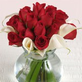 6 Lovely Wedding Centerpieces with Red Roses & Calla Lilies