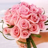 Romantic Bridal Bouquet with Light Pink Roses                                                              For Delivery to New_York