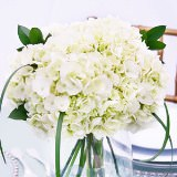 3 Wedding Table Centerpieces with White Hydrangea