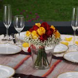 6 Wondrous Wedding Centerpieces with Yellow & Red Roses