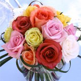 3  Wedding Centerpieces with Assorted Color Roses